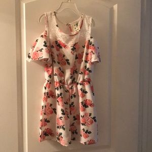 Girls Floral Rumper dressy lace top!